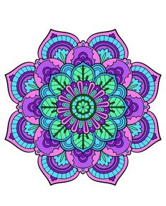 Mandala Coloring, Colouring Pages, Adult Coloring Pages, Coloring Books, Mandala Art Lesson, Mandala Drawing, Mandala Tattoo, Mandala Design, Mandala Dots