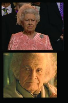 THEY TOTALLY LOOK ALIKE! Sorry queen...and sorry Bilbo...