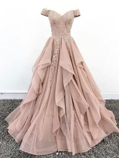 Off Shoulder Dusty Champagne Lace Cheap Long Evening Prom Dresses, Evening Party. - Off Shoulder Dusty Champagne Lace Cheap Long Evening Prom Dresses, Evening Party Prom Dresses, 18627 Source by - Cute Prom Dresses, Elegant Dresses, Pretty Dresses, Beautiful Dresses, Formal Dresses, Maxi Dresses, Cheap Dresses, Summer Dresses, Awesome Dresses