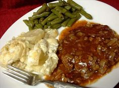 """Quick Cube Steaks from Food.com: The recipe I cut out from the Miami newspaper (many years ago) calls this """"German Quick Steaks""""--not too sure where the """"German"""" part comes from. Makes cube steaks tender and easy. Serve with mashed potatoes or egg noodles."""