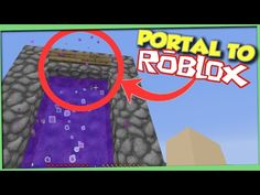 Minecraft: How to make a Portal to Roblox - (Minecraft Portal to Roblox) - PARODY Free Minecraft Account, Minecraft Portal, Minecraft Mobs, Minecraft Houses Blueprints, Minecraft Videos, Cool Minecraft, Youtube Minecraft, Minecraft Decorations, Minecraft Designs