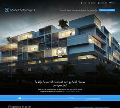 Daily inspiration 23-06-14: New website from Adobe.nl and #Photoshop. I really like that new style! #adobe #website
