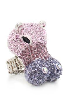 embellished hippo ring $10.40