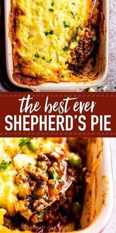 Homemade shepherd's pie is the ultimate comfort food. This simple recipe is made completely from scratch like the traditional, but uses ground beef instead of lamb for a more budget friendly family meal. Filled with healthy vegetables and super comforting Healthy Dinner Recipes For Weight Loss, Healthy Recipes, Vegetarian Recipes, Delicious Recipes, Simple Recipes For Dinner, Ground Beef Recipes For Dinner, Simple Fall Recipe, Ground Beef Recipes Simple, Ethnic Food Recipes