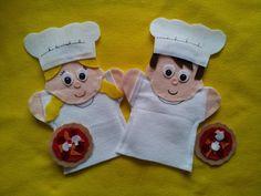 Baker Puppets by lisapuppetmaker.com #puppet #puppets #chiefpuppet #chief #cook #baker