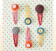 Button ~~ Hair Clips