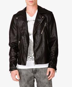 Faux Leather Moto Jacket | FOREVER 21 - 2049256918