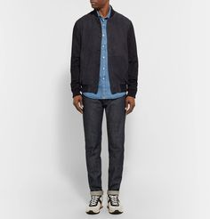 <a href='http://www.mrporter.com/mens/Designers/AMI'>AMI</a> refines a menswear classic with its version of the denim shirt. Cut from washed and broken-in fabric, it has a single patch pocket and pearlescent snaps through the front. The slim fit will still feel comfortable even when worn over a graphic T-shirt. Try yours with jeans in a different wash.