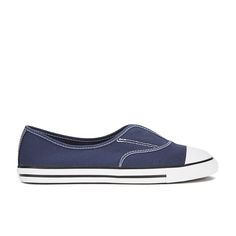 Converse Women's Chuck Taylor All Star Cove Canvas Pumps - Converse Navy/White: Image 01