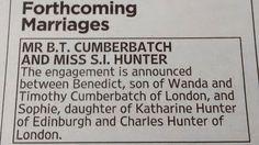 Benedict Cumberbatch Announces Engagement