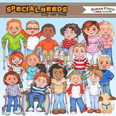 SPECIAL NEEDS digital clip art. by SusanFitchDesign on Etsy