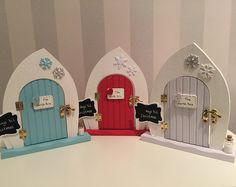 Browse unique Christmas fairy elf doors from TheLittlehCompany on Etsy, a global marketplace of handmade, vintage and creative goods. Christmas Craft Fair, Christmas Events, Christmas Fairy, Christmas Makes, Christmas Door, Christmas Crafts, Christmas Decorations, Fairy Crafts, Fun Crafts