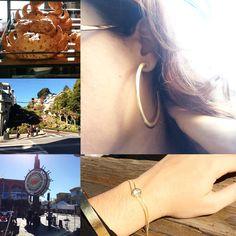 #san #francisco #sanfrancisco #pier39 #sourdough #lombardy #paulaferreira#semijoia#revenda#agoraeahora#dourado#gold#plate#brinco#earings#bella#jour#love#lovelly#diamonds#mimo