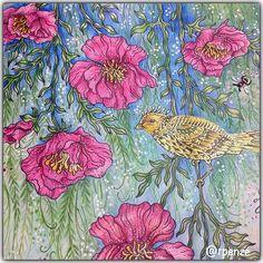 Meu domingo cheio de cores e flores, curtindo meus mondeluz, amooooooo de paixão! mondeluz, canetas gel e posca e sommarnatt…