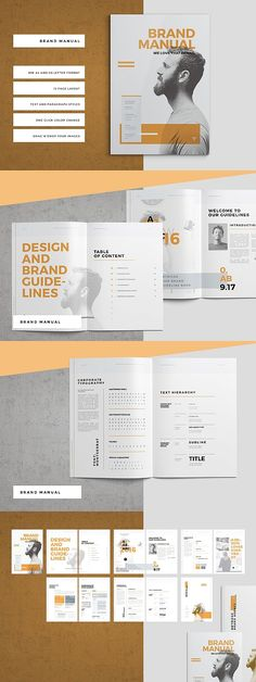 Brand Manual and Corporate Design Guideline This corporate design manual will come in two sizes. Ci Design, Book Design, Layout Design, Branding Design, Game Design, Graphic Design, Booklet Layout, Page Layout, Design Guidelines