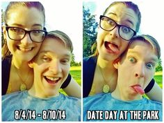 Journal 8/4/14 - 8/10/14 Date Day At The Park