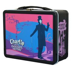 Charlie and the Chocolate Factory Pastel Metal Lunch Box