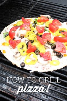It's so easy to grill pizza and it makes the best crispy crust!