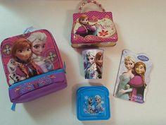 Disney Frozen Elsa & Anna Frozen 5 Piece Insulated Lunch Bag Giftset Bundle @ niftywarehouse.com #NiftyWarehouse #Geek #Gifts #Collectibles #Entertainment #Merch