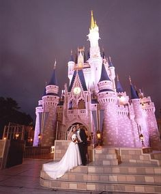 I want to get married in Disney World... Or at least take pictures there...I LOVE DISNEY! <3