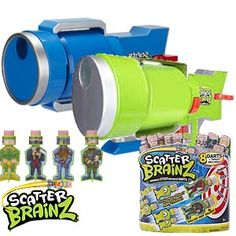Scatter Brainz Bazooka with 8 Dart Booster Pack