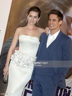 Ana de Armas and Martino Rivas attend the 'Por Un Punado de Besos' premiere at Callao Cinema on May 2014 in Madrid, Spain. Get premium, high resolution news photos at Getty Images Denis Villeneuve, Becoming An Actress, National Theatre, Tv Couples, Film Blade Runner, Perfect Man, Party Fashion, Actors & Actresses, Strapless Dress Formal