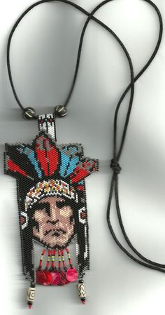 peyote beaded Native American Indian necklace