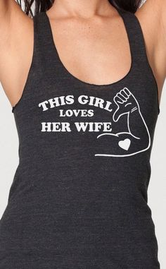 This Girl Loves Her Wife gay pride lesbian by EconomyGrocery,