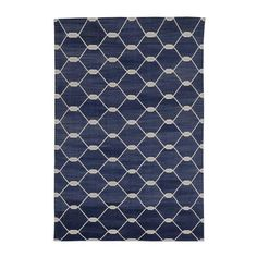 Indigo Chi Chi Kari Cotton Carpet | MADELINE WEINRIB