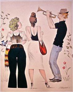 "Erik Freyman ""Street Musicians #6"", original watercolor #Realism"