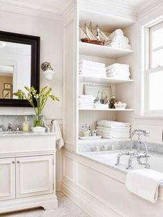Beautiful white bathroom.