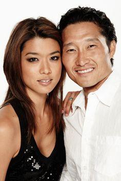 Kono Kalakaua (Grace Park)  and Chin Ho Kelly (Daniel Dae Kim) - Hawaii Five-0