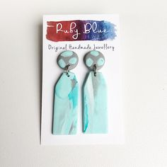 Long polymer clay earrings, Polymer clay dangle earrings, Statement Earrings, Pastel dangle earrings, handmade earrings by Rubybluejewels by Rubybluejewels on Etsy https://www.etsy.com/au/listing/538852809/long-polymer-clay-earrings-polymer-clay
