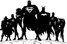 Justice League Liga da Justiça Black Bodys with white symbol #justiceleague