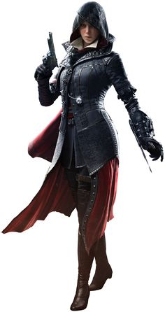 Dame Evie Frye (1847 – unknown) was a Master Assassin of the British Brotherhood active in London during the Victorian era, and the elder twin sister of Jacob Frye. She was also a member of the Order of the Sacred Garter, and the grand-aunt of Lydia Frye. Originating from Crawley, Evie and her brother traveled to London to liberate London from the Templars' control and help the poverty-stricken masses, following the death of their father by natural causes. To accomplish this, she and Jaco...