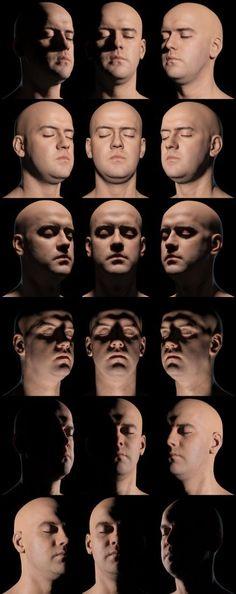 【不同的光导致不同的影】@血色黑桃J采集到Man Face(100图)_花瓣