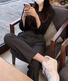 Korean Girl Fashion, Korean Fashion Trends, Womens Fashion, Cute Casual Outfits, Chic Outfits, Girl Outfits, Kpop Fashion Outfits, Korean Outfits, Mode Inspiration
