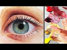 How to Paint a Realistic Eye - YouTube