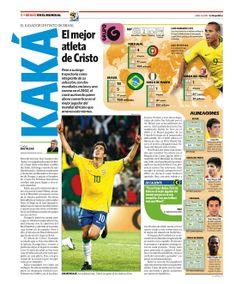 Bravo en el mundial. #Diseño con infografía. Más páginas del suplemento deportivo que publicamos hace cuatro años en el enlace http://columnasymodulos.blogspot.com/2014/06/ya-se-viene-el-mundial.html