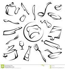 dibujos cocina utensilios para chef resultado imagen