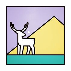 Deer #deer #graphic #illust #illustration #graphicdesign #pictogram #thedesigntip #artwork #isotype #meanimize