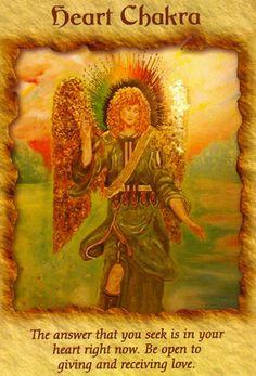 Terapia Ángel Tarjeta de Oracle - Chakra del Corazón