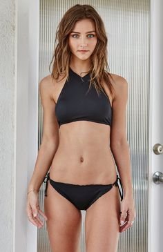 V-Neck Cropped Bikini Top