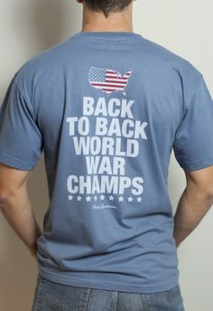 10f23d9c Back to Back World War Champs Pocket Tee Shirt - America Silhouette Edition  - Weathered Blue