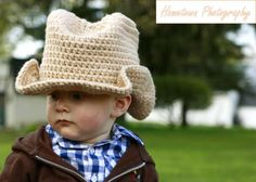 Crochet by Dugan's Girls  {Boot Scoot'n Cowboy hat}  https://www.facebook.com/pages/Dugans-Girls/147396202020393  #MadMadMakers