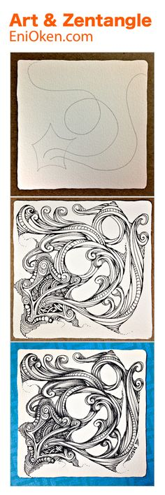 Learn how to create Zentangle®️ dingbatz and twisted ropes • enioken.com