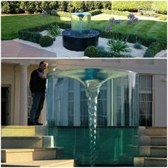 Build your own vortex water fountain and amaze your neighbors. by bdavid Homemade Water Fountains, Yard Water Fountains, Garden Fountains, Outdoor Water Features, Water Features In The Garden, Vortex Fountain, Vortex Water, Water Turbine, Water Sculpture