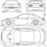 BMW M3 GTR blueprint