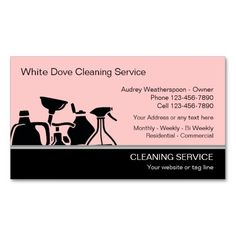 Elegant Two Tone Laundry Services Business Card Dry Cleaning