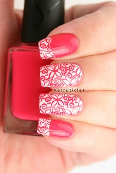 Beautiful stamping nails!